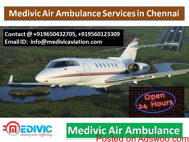 Medivic Air Ambulance Services in Chennai-All Facilities Available