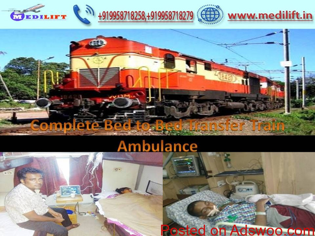 Get Reliable Cost Rail Ambulance Service in Delhi by Medilift