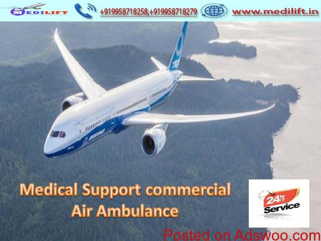 Avail Medilift Advanced Facility Air Ambulance Service in Delhi
