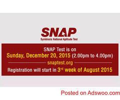SNAP 2019 Exam Date, December 2019, Registration.