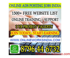 Ad posting jobs India online ad posting jobs in India Earn 10,000 pm