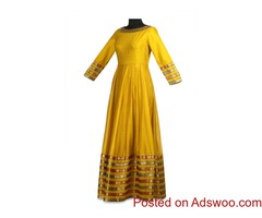Look Trendy In Anarkalis From TheHLabel USA: Shop Now!