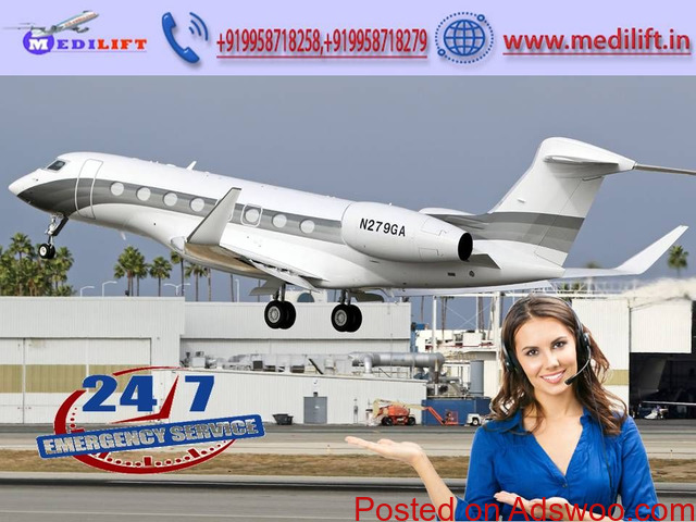 Choose Medilift Air Ambulance Service in Delhi with Doctor