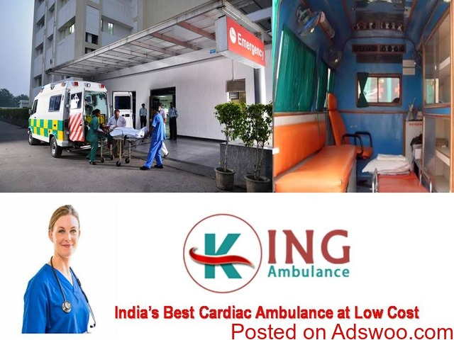 Use Superfine ICU Care Road Ambulance Service in Katihar by King - 1/1