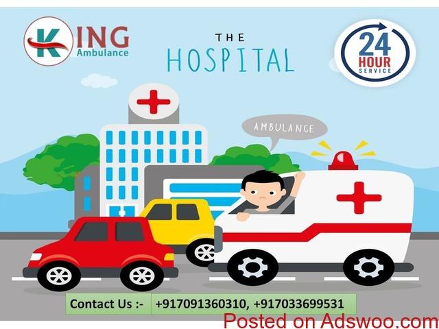 Pick Pre-Eminent Emergency Road Ambulance Service in Samastipur - 1/1