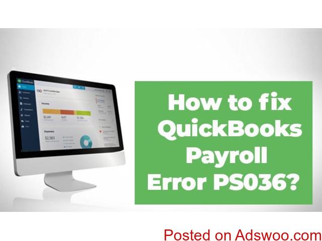 Fix Quickbooks payroll error PS036 - 1/1
