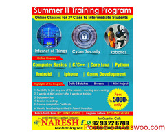Summer IT Training Program Online Classes For 3rd Class To Intermediate Students in Hyderabad