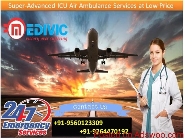 Pick Medivic Air Ambulance in Hyderabad with Hi-tech ICU and CCU Setup - 1/1