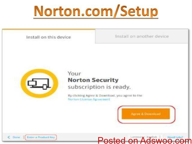 norton.com/setup, Enter Norton Product Key, Norton Setup UK - 1/1