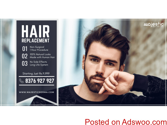 Non Surgical Hair Replacement / Hair Patch / Wig for Men - 1/1
